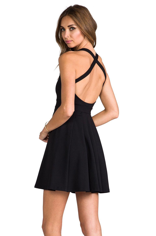 Susana Monaco Kit Dress en Noir | REVOLVE