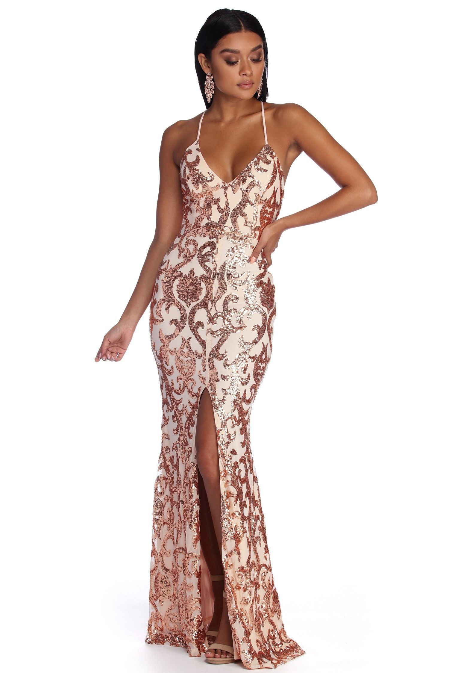 2a9f0ad907c7a Kaylani Formal Sequin Scroll Dress in 2019 | Potential dresses ...