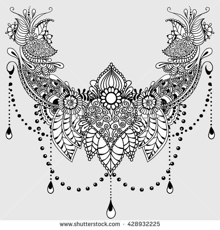 stock-vector-template-for-tattoo-design-with-mehndi-elements - tattoo template
