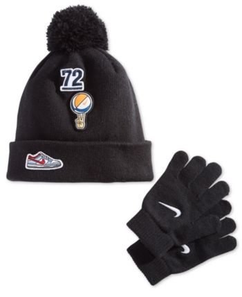 2f3586558 Nike Little Boys 2-Pc. Patches Hat & Gloves Set - Black | Products ...