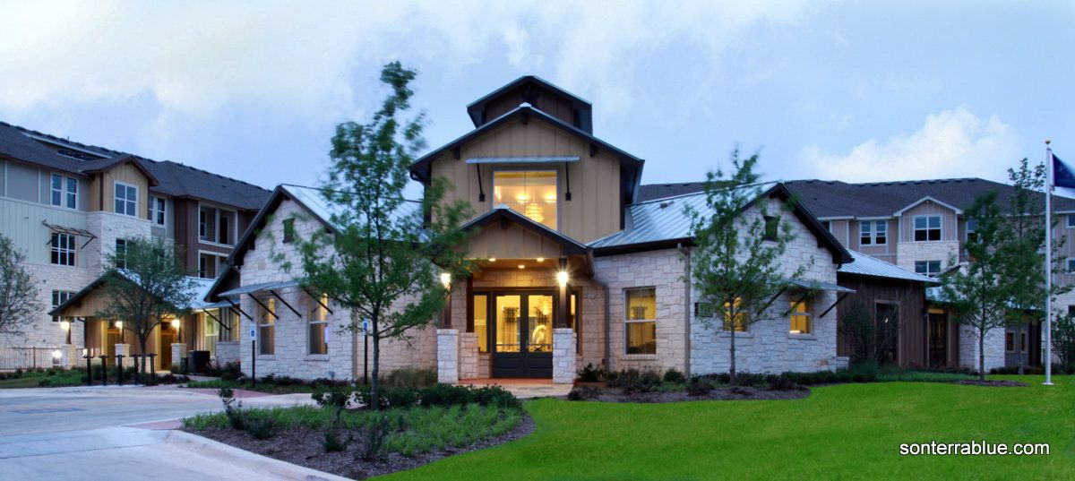 Look For Sonterra Blue Off Sonterra Blvd We Love Our Location In North Central San Antonio Sonterrablue House Styles House Mansions