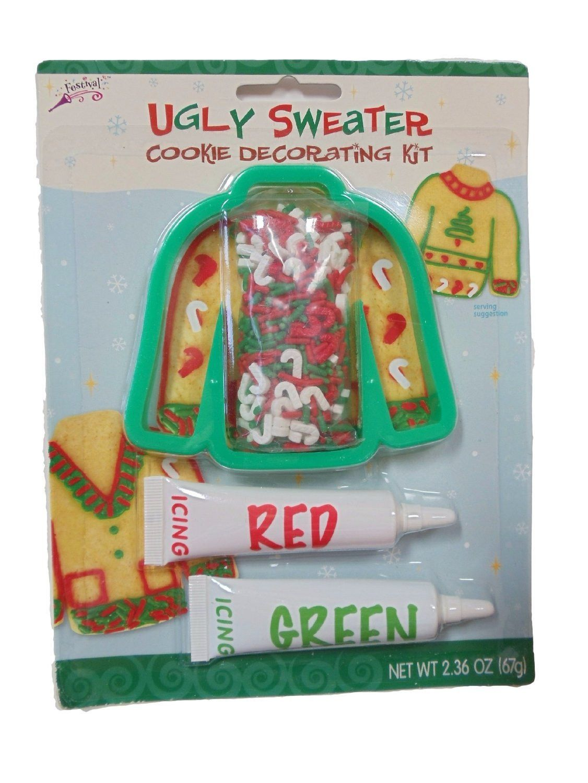 Ugly Christmas Sweater Cookie Kit Test Kitchen Koekjes