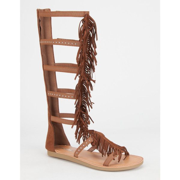bd2e36178ac Soda Pass Fringe Womens Gladiator Sandals ( 37) ❤ liked on Polyvore  featuring shoes