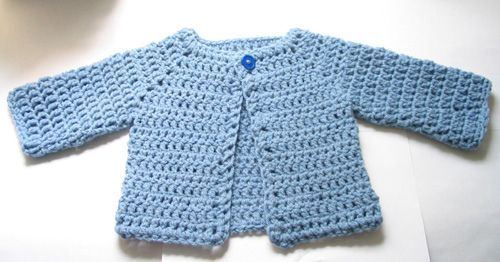 Free Pattern Adorable Crocheted Baby Sweater Knit And Crochet