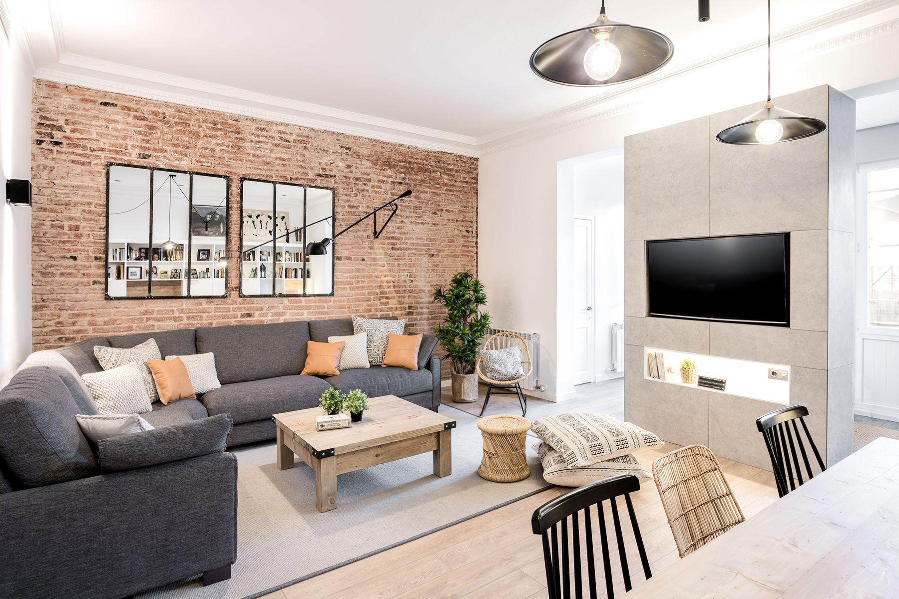 Murs de briques dans un appartement espagnol  Idée déco