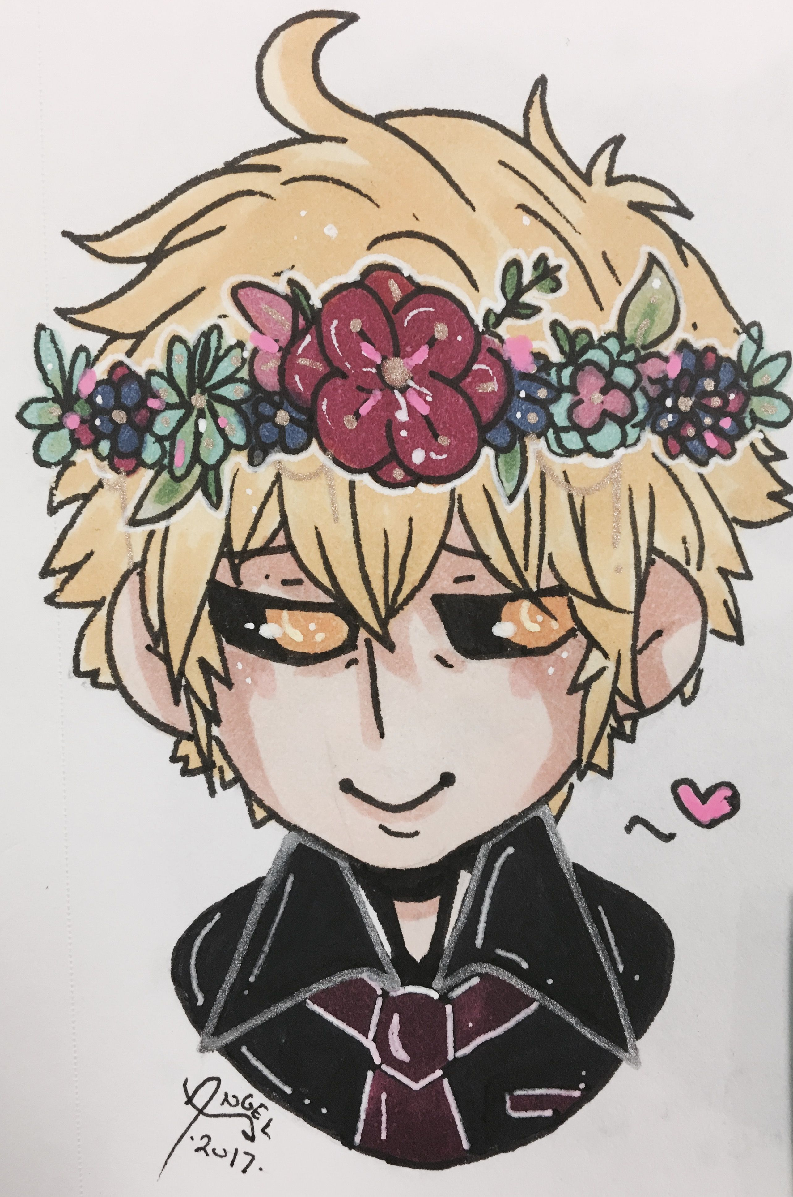 A Request For Silvurr Baab Who Wanted Genos With A Flower Crown Art