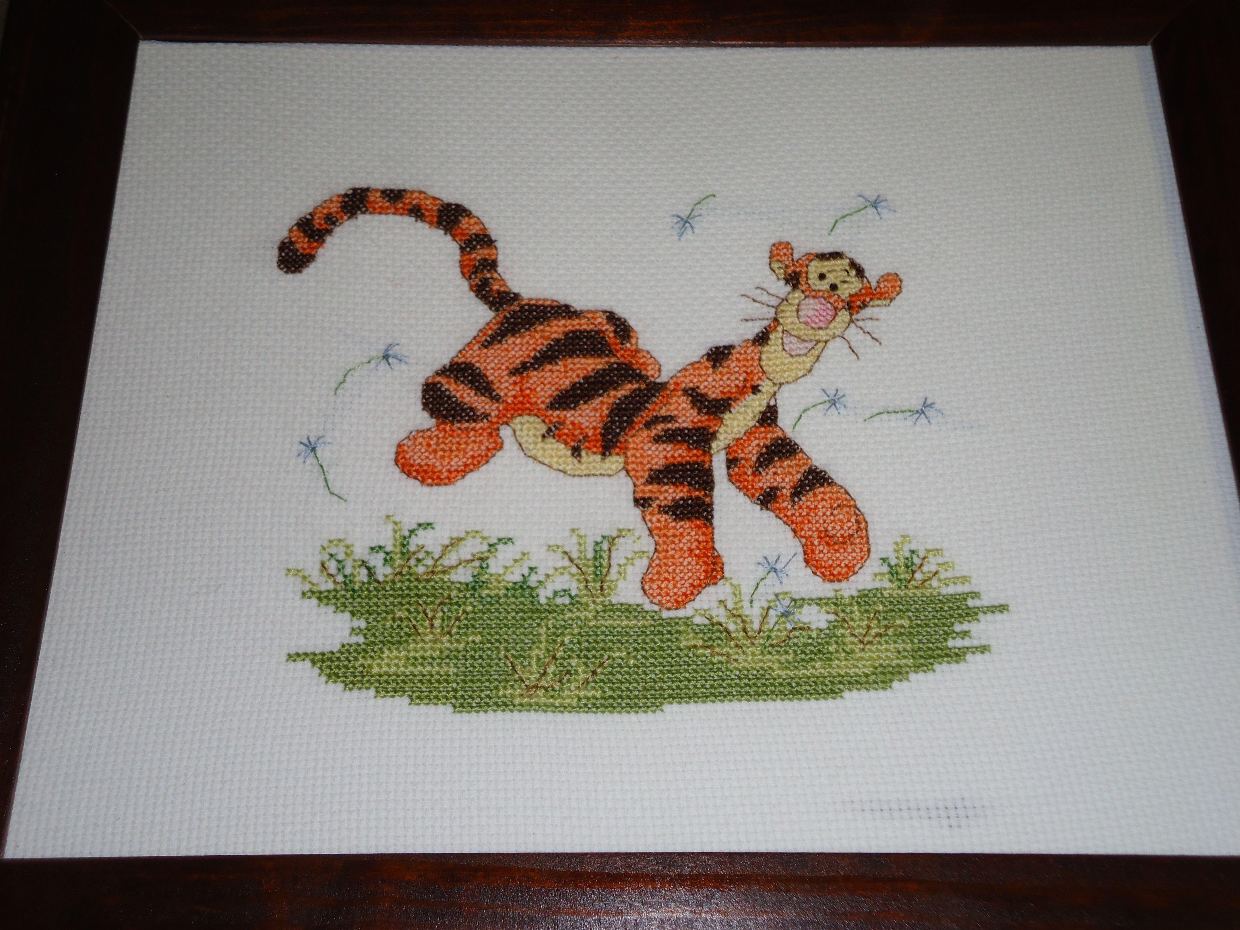 Tigger Cross Stitch Stitching
