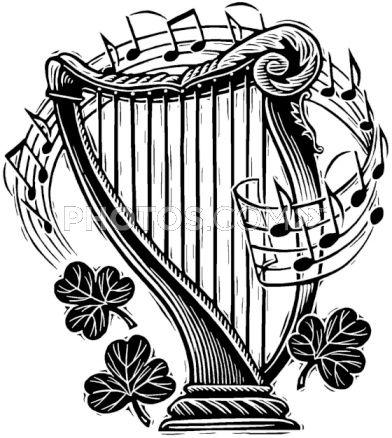 Harfe Illustrationen