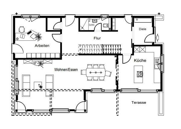 Musterhaus Fertighaus von Okal haus, Haus und Küche