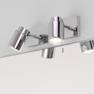 Over mirror bathroom light with pull cord http8dietfo astro lighting astro lighting 6121 como chrome bathroom spotlight brands polished chrome comes with bulbs mozeypictures Image collections