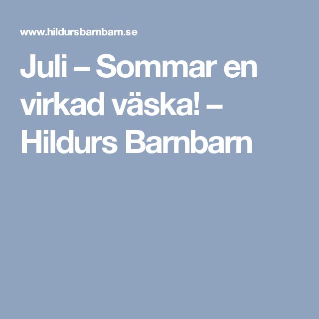 Juli – Sommar en virkad väska! – Hildurs Barnbarn