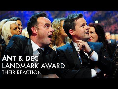 Ant & Dec's NTA Landmark Award - Their Reaction - YouTube