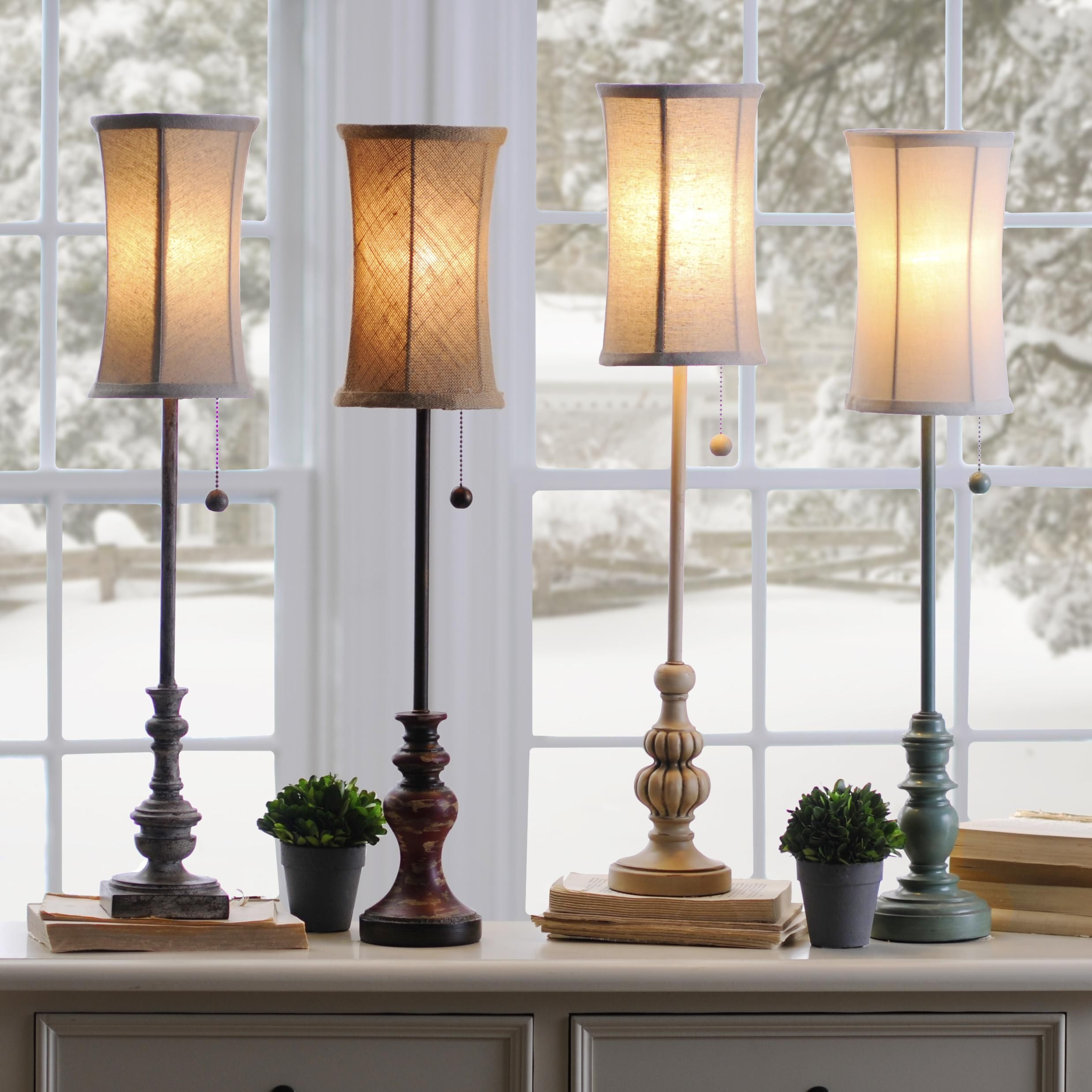 Buffet lamps are perfect for small tables or when you have limited space
