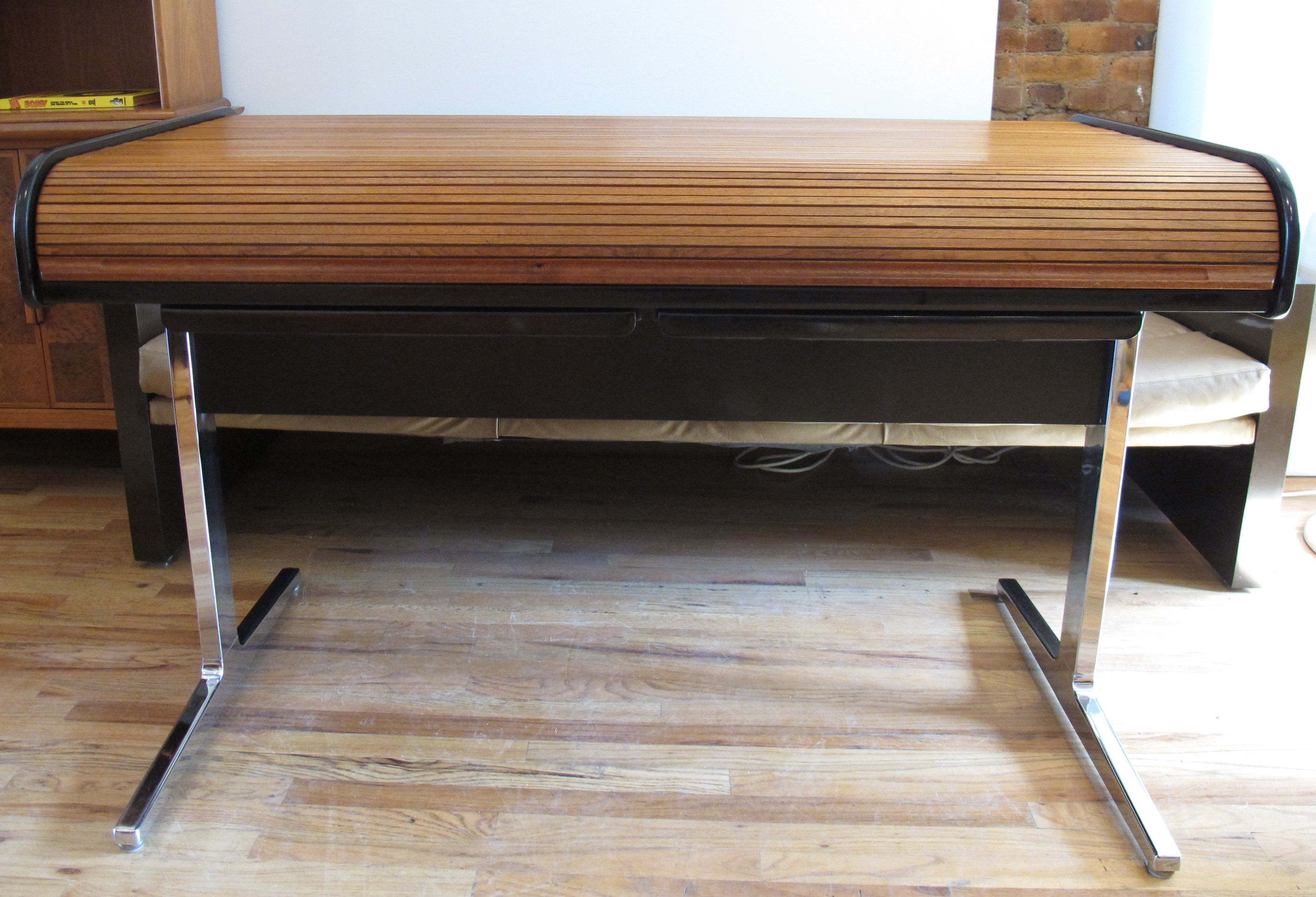 mid century action roll top desk by george nelson for herman miller