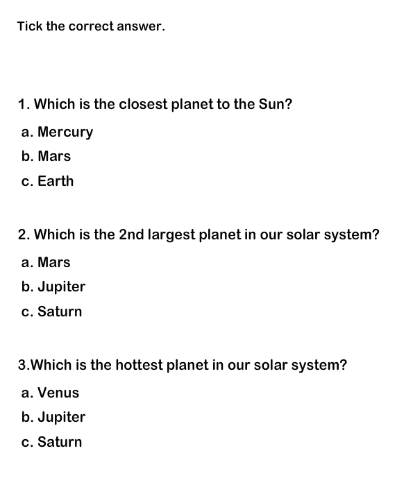 Solar System Worksheets, Educational Worksheets for Kids, Science ...