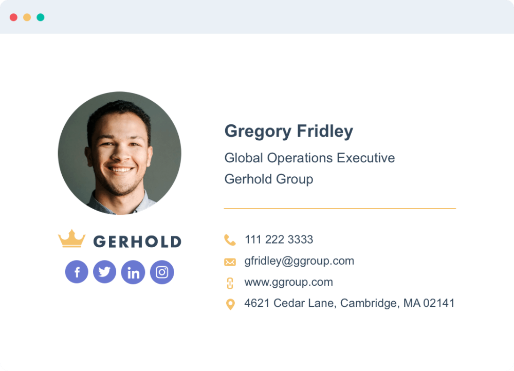 Free Email Signature Template Generator By Hubspot Free Email Signature Templates Free Email Signature Email Signature Templates