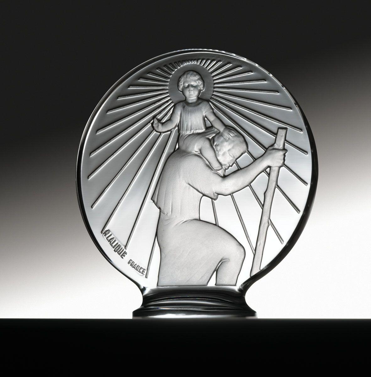 Hood Ornaments / LALIQUE AUTOMOBILE MASCOTS, 1932 / Saint Christophe (Photo Credit Courtesy of RM Auctions)