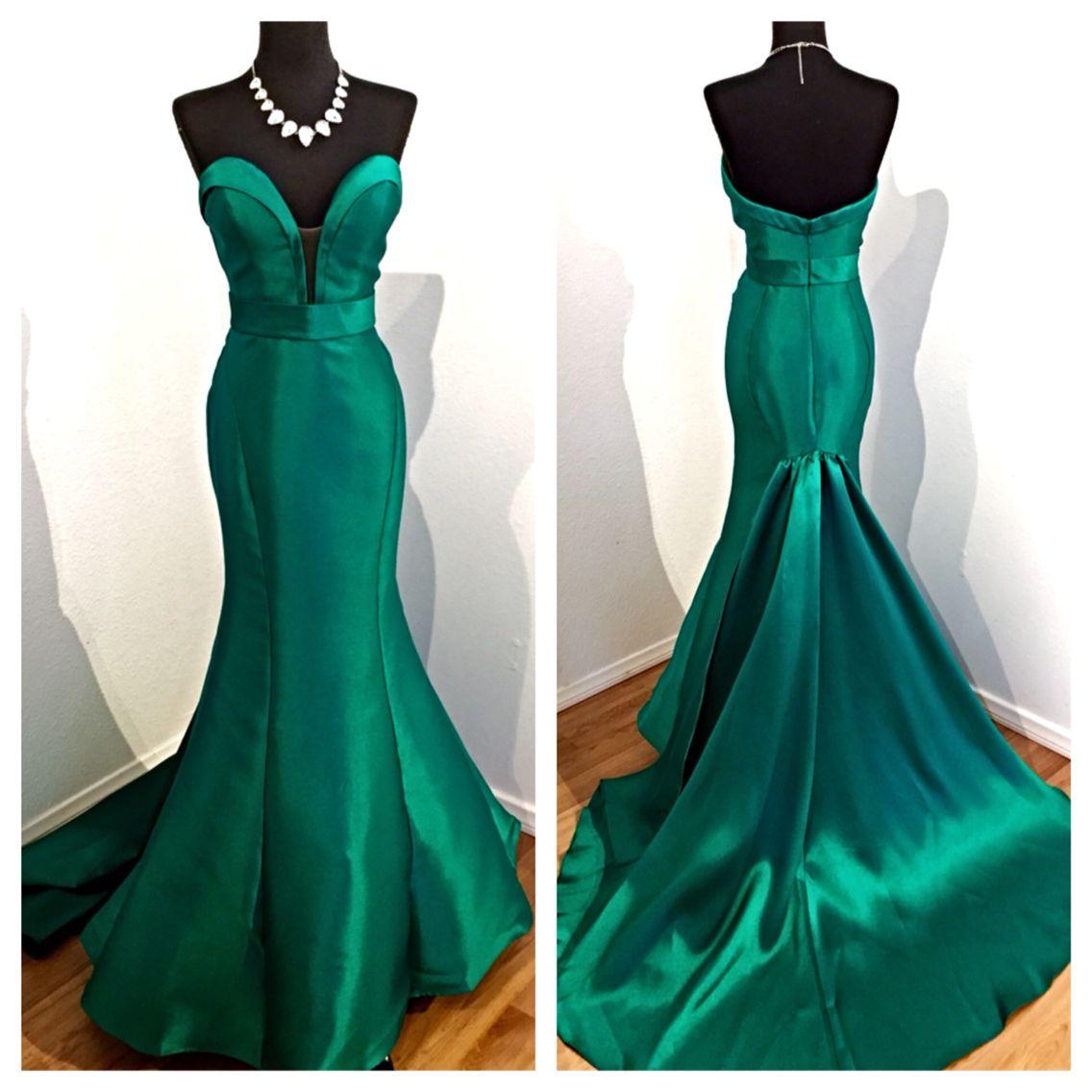 Prom dress new arrival 2016 mermaid pageant dress emerald green - An Emerald Beauty