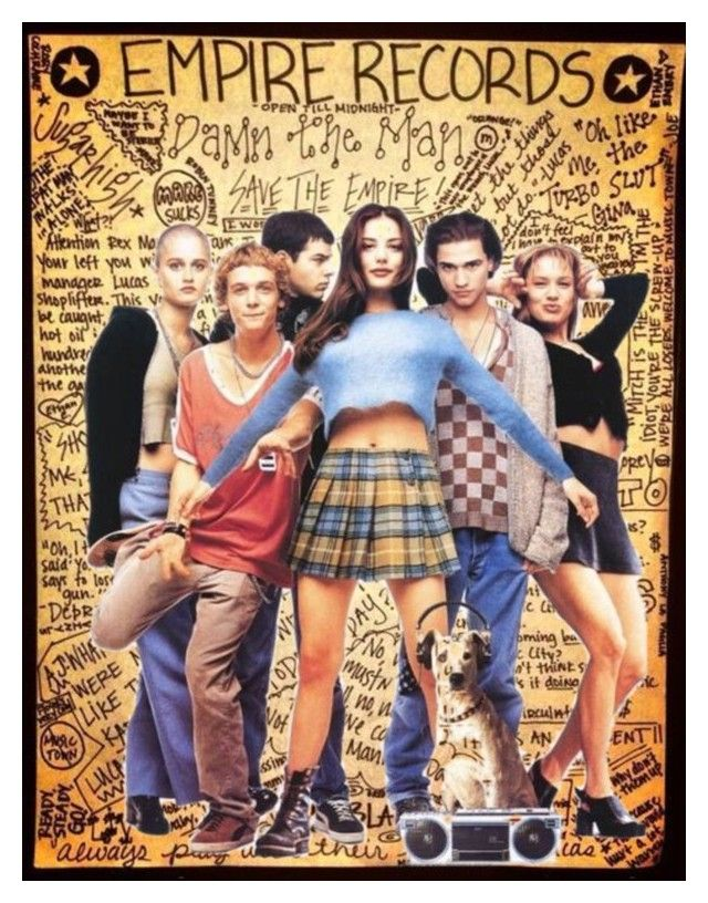"""""""Cult Status: Empire Records"""" by s246 ❤ liked on Polyvore featuring art"""