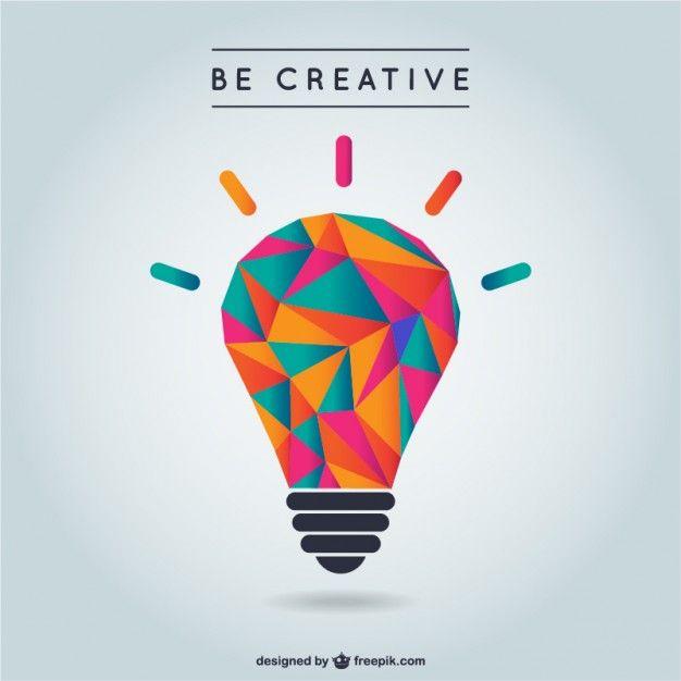Píntate De Optimismo Y Creatividad: Vector De Creatividad Con Bombilla