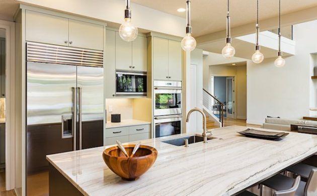 arbeitsplatte küche mit rustikaler optik #Cheaptuscanhomedecor