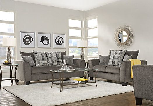 Picture Of Austwell Gray 5 Pc Living Room From Living Room Sets