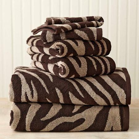 Better Homes And Gardens Zebra Extra Absorbent 6 Piece Towel Set