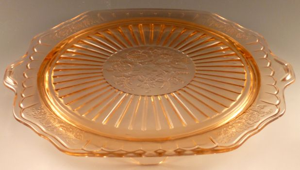 Mayfair Pink Depression Glass Cake Plate & Mayfair Pink Depression Glass Cake Plate | Depression Glass ...