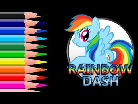 Painting Rainbow Dash | Coloring My Little Pony | Painting ...