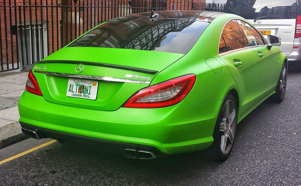Green Mercedes Benz Cls 63 Amg Rr London14 Mercedes Benz Cls