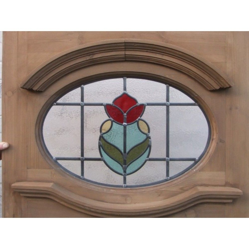 12 Edwardian Stained Glass Exterior Door   Central Tulip ...