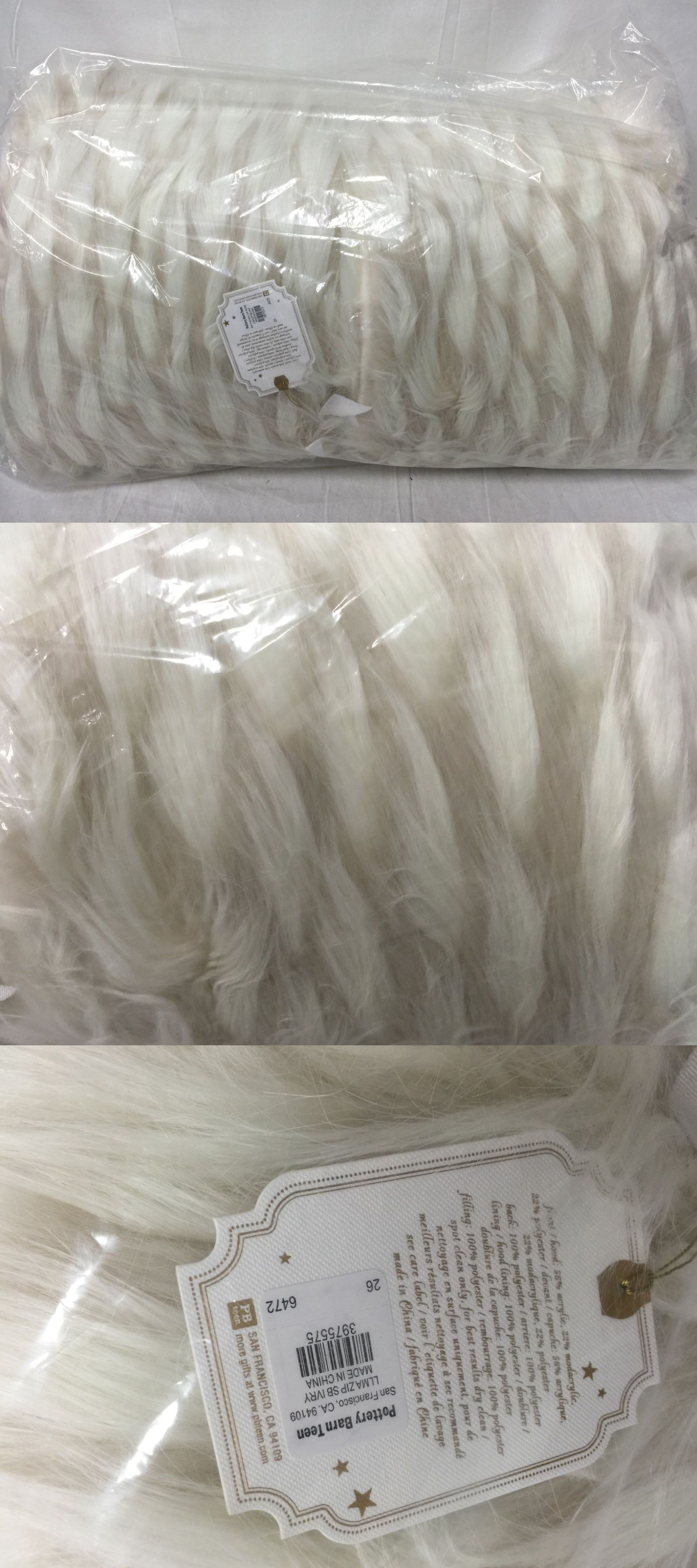 60804252cc Sleeping Bags 48091  New Pottery Barn Teen Faux Fur Llama Sleeping Bag -   BUY
