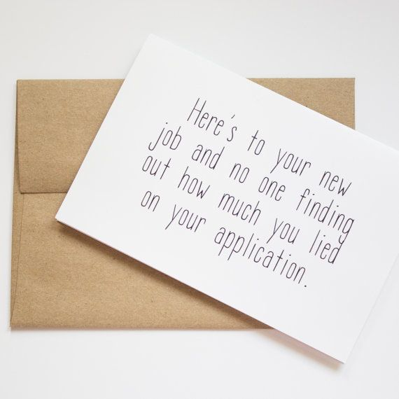 New job congratulations card funny new job card by artRuss on Etsy