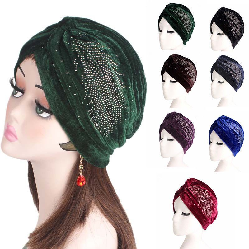 2140aae5320 Women Muslim Stretch Turban Hats Headscarf Chemo Cap Hot Drilling Hijab  Indian  fashion  clothing  shoes  accessories  womensaccessories  hats  (ebay link)