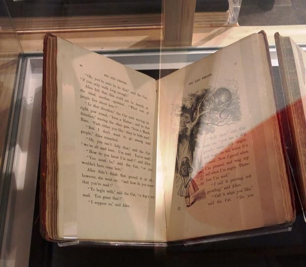 The first edition  published by MacMillan  of Alice in Wonderland.