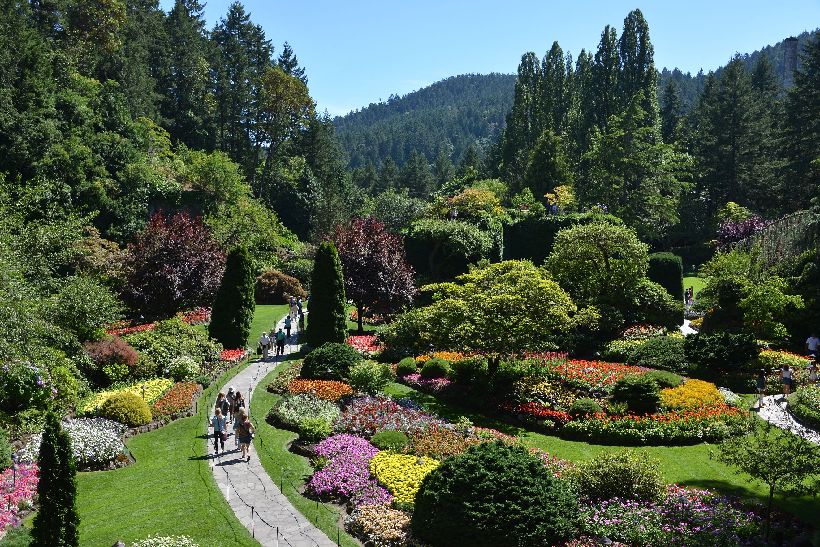 The Butchart Gardens is one of the top tourist attractions