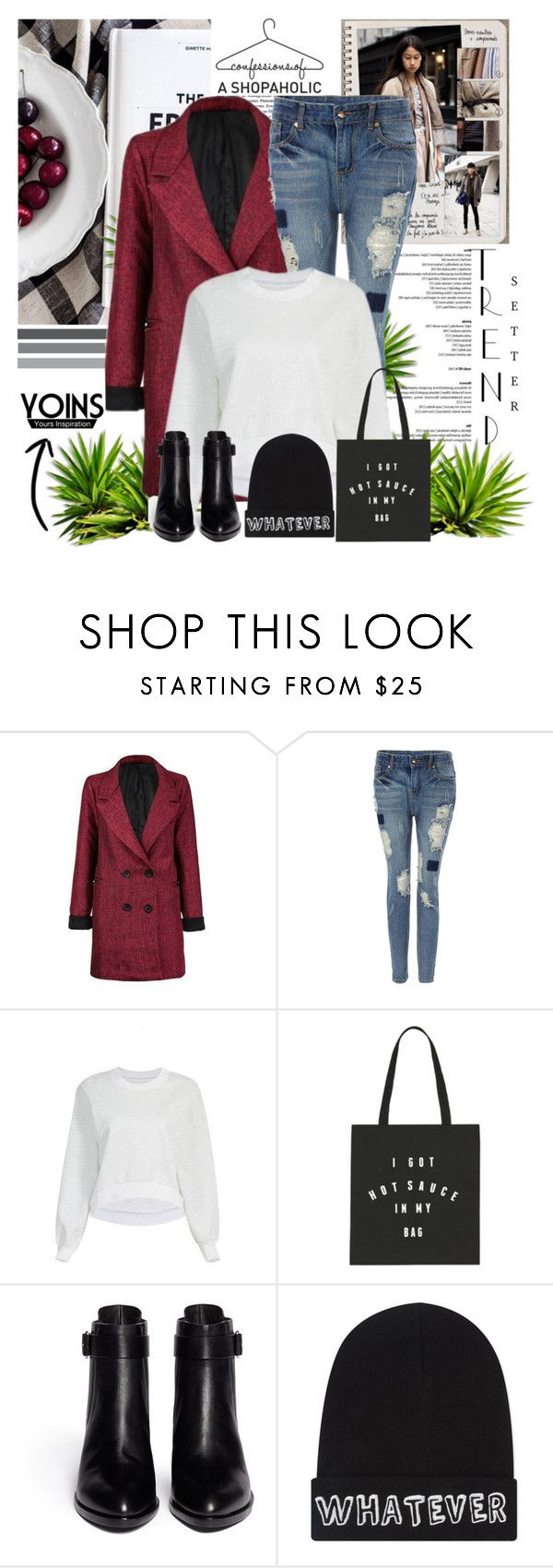 """Yoins 25"" by lara-fam ❤ liked on Polyvore featuring Garance Doré, Alexander Wang, Local Heroes, vintage, women's clothing, women, female, woman, misses and juniors"