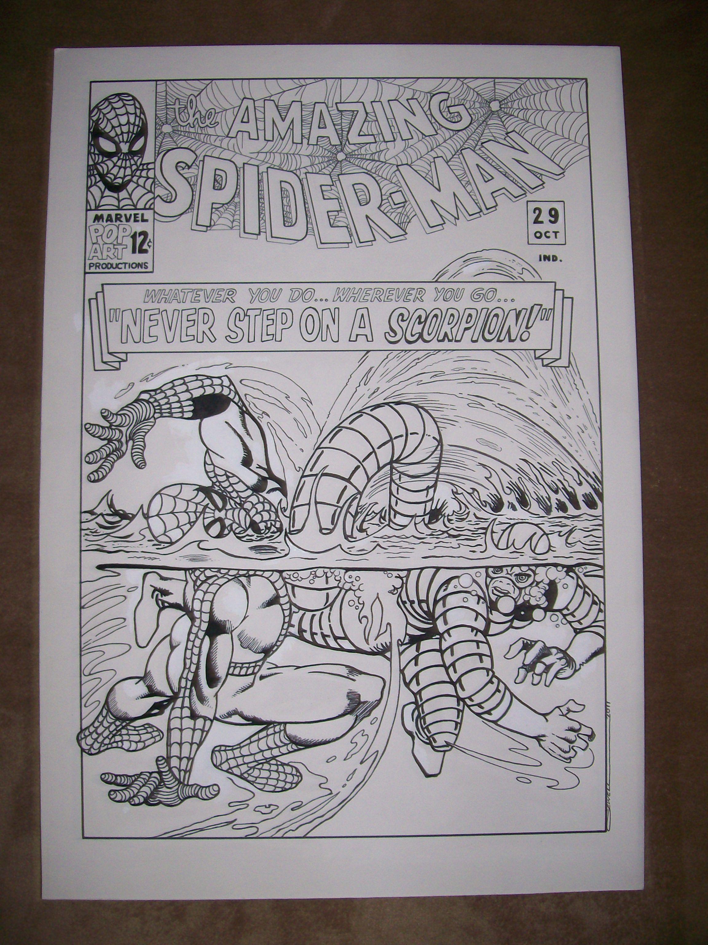 Amazing Spiderman  My art work if interested cvccvpcvs@rogers.com