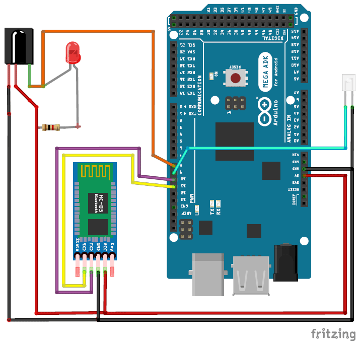 Cell phone controlled AC using arduino and Bluetooth circuit