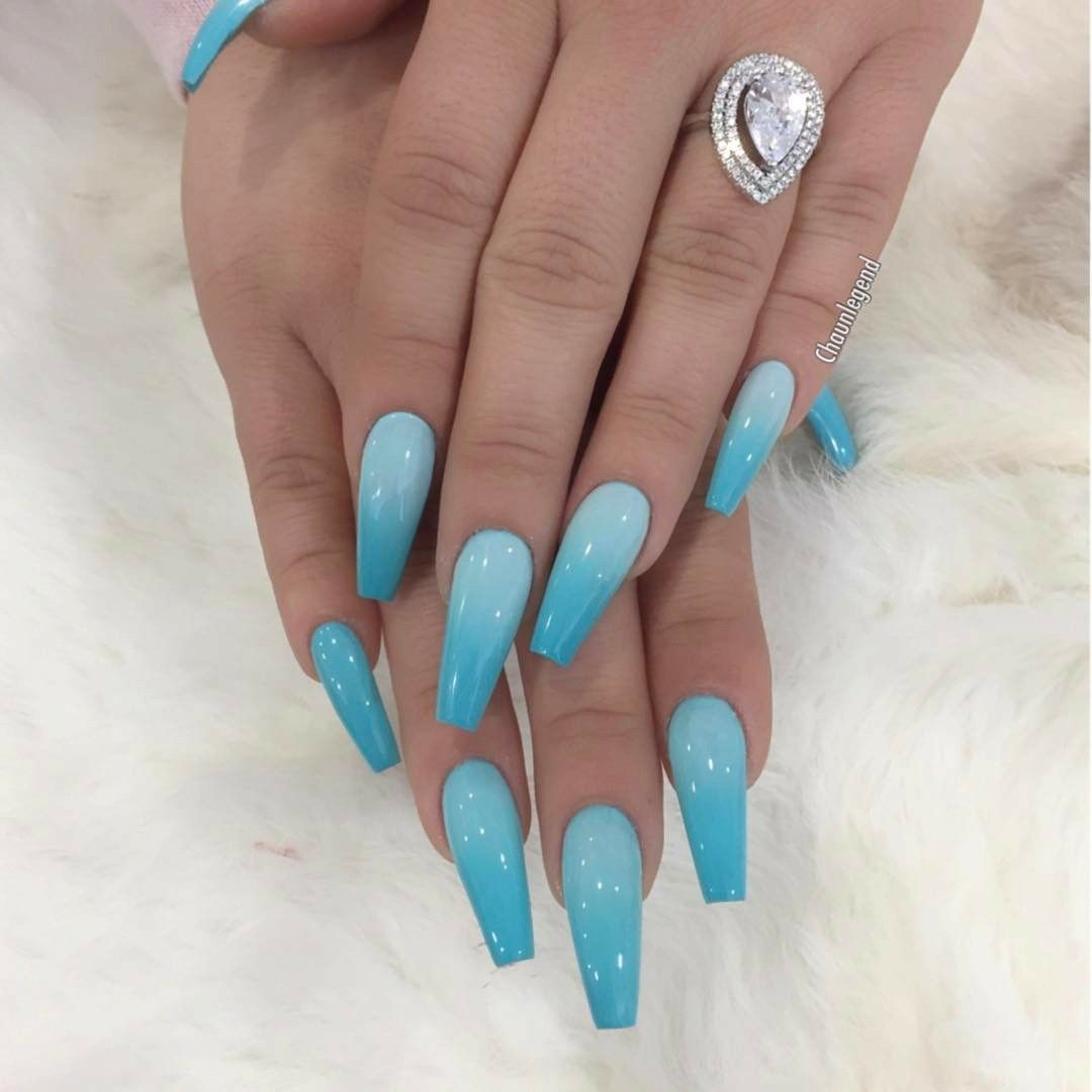 Icy Blue Love It Blue Acrylic Nails Shiny Nails Designs Wedding Acrylic Nails