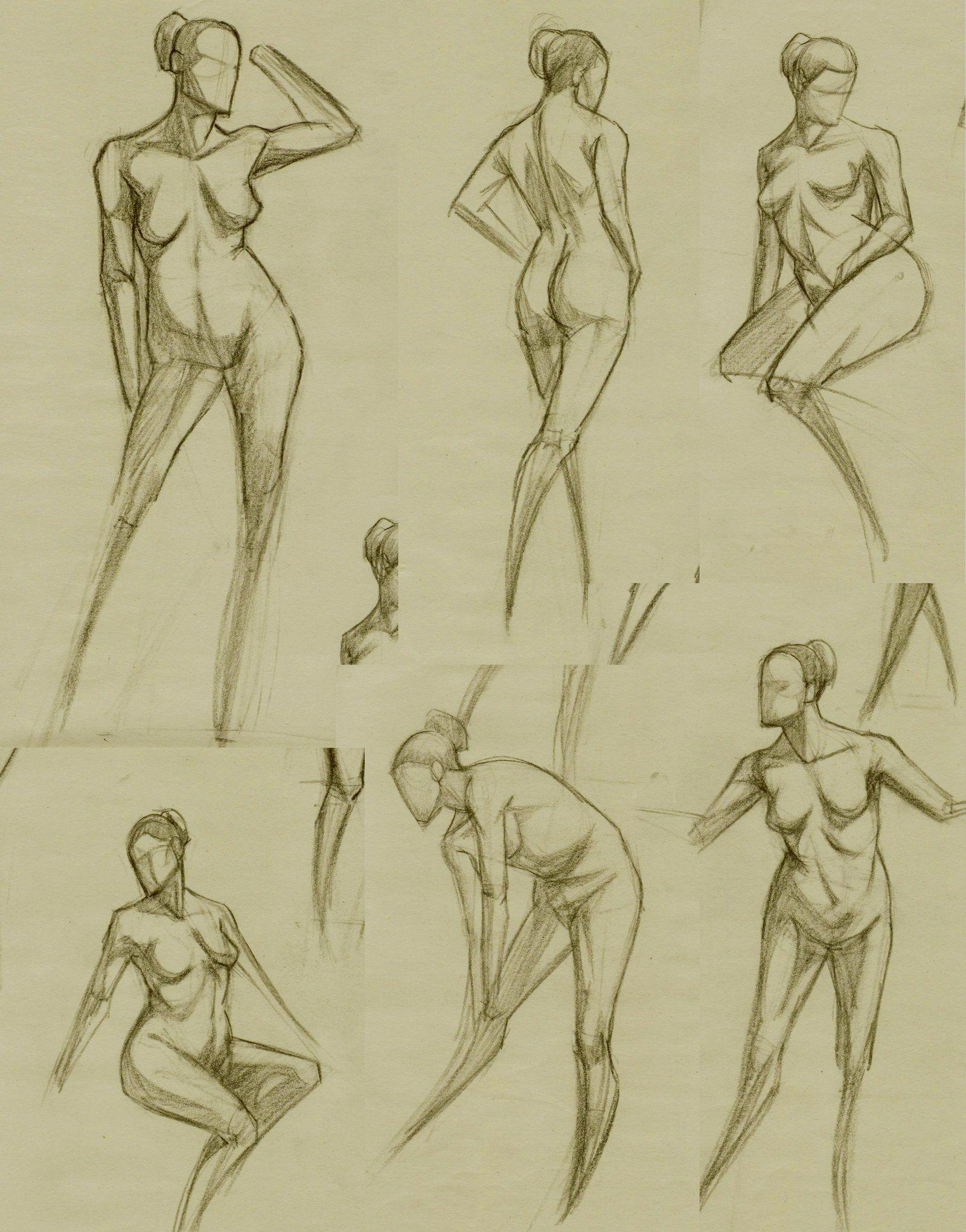 Figure studies. by RoscoeFink on DeviantArt