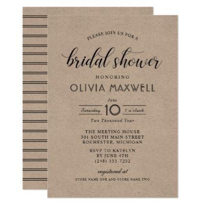 4eff54f9ec2f Chic Stripes Bridal Shower Invitation