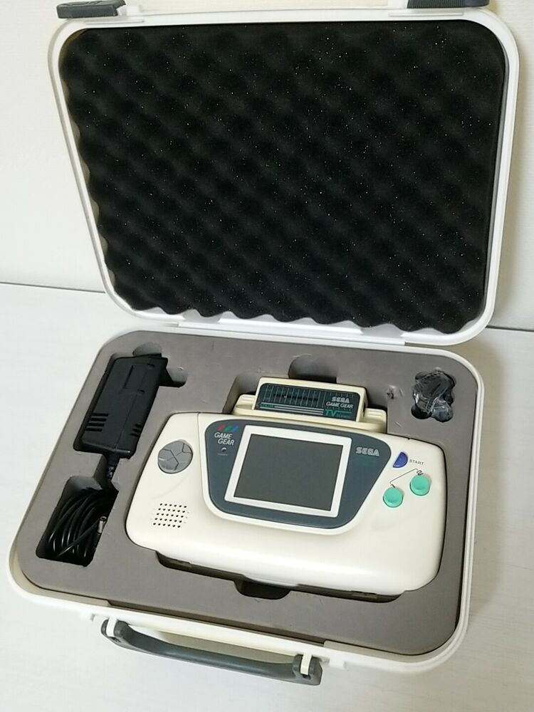 Sega Game Gear Console White Limited Edition +TV Tuner (working ...