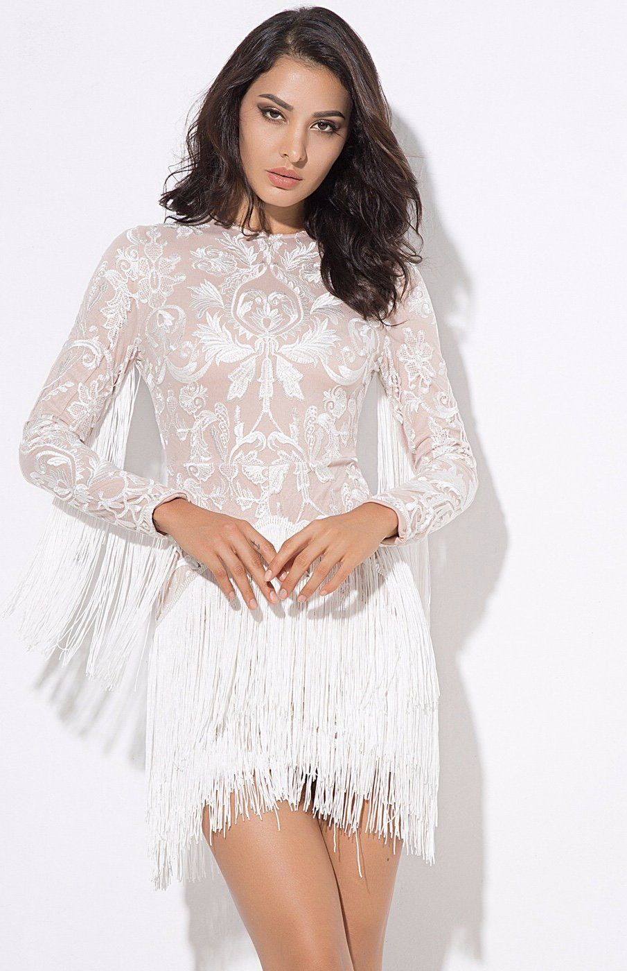 Move Over Little Black Dress This Season Is All About The Little White Dress And We Are Obsessed With This Beauty At Fas Mini Dress Dresses White Fringe Dress [ 1400 x 905 Pixel ]