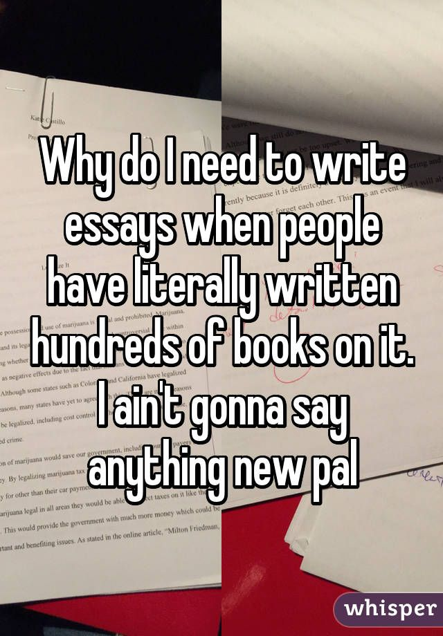 Why do people write essays