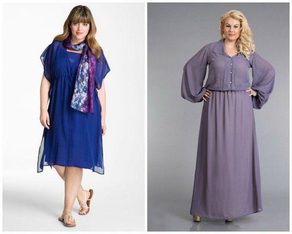 Платья из шифона для полных женщин фото - YouTube