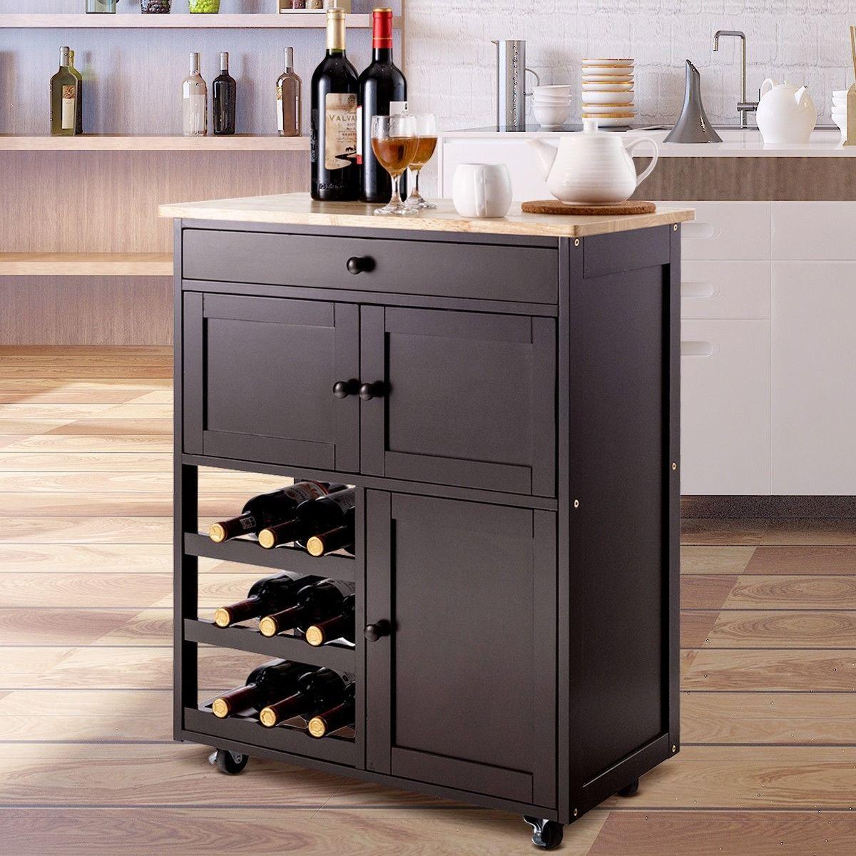 Modern Rolling Storage Kitchen Cart With Drawer Kitchen Cart With Drawers Kitchen Cart Kitchen Storage