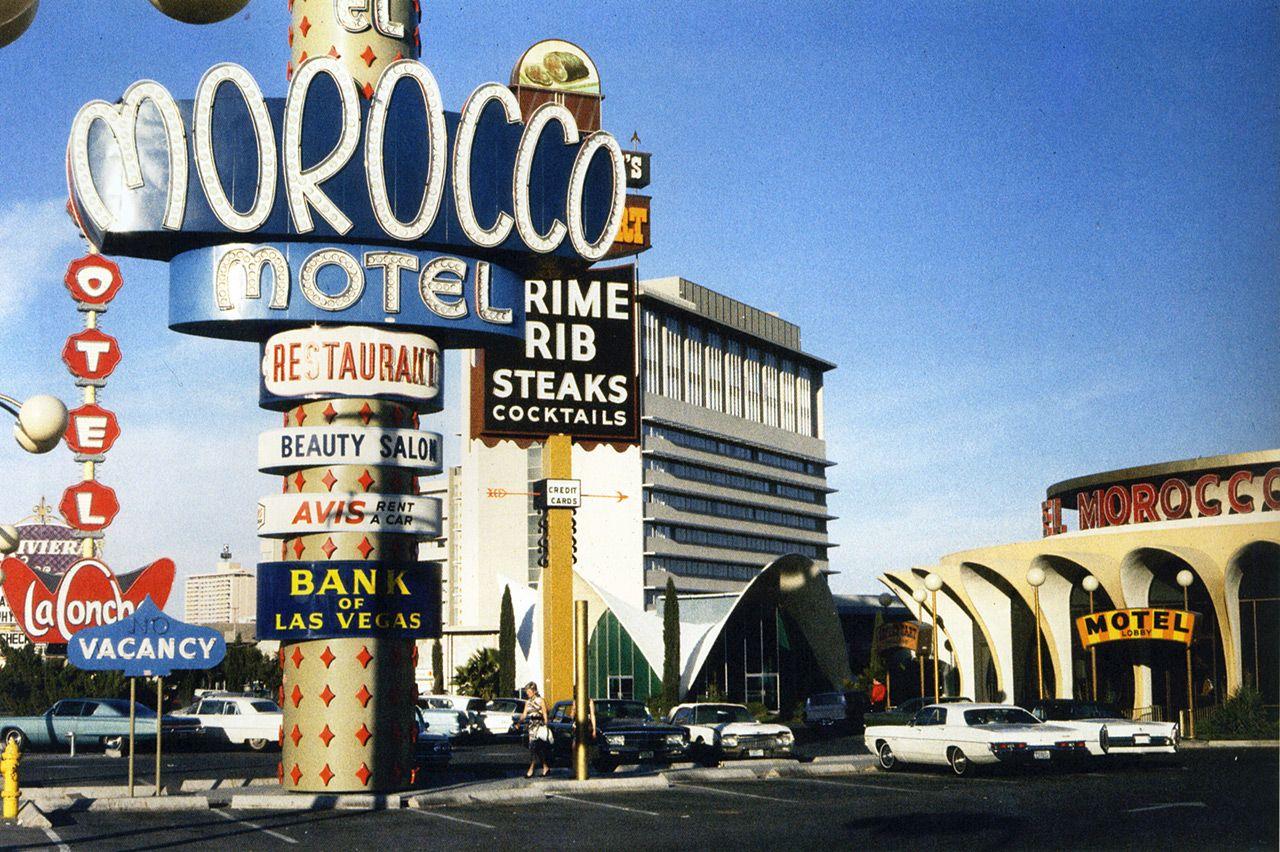 el morocco motel las vegas strip october 1968 laconcha. Black Bedroom Furniture Sets. Home Design Ideas