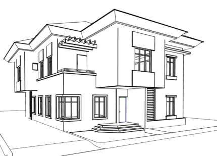 Ausmalbild Haus Ausmalen Clipart Zeichnen Anleitung