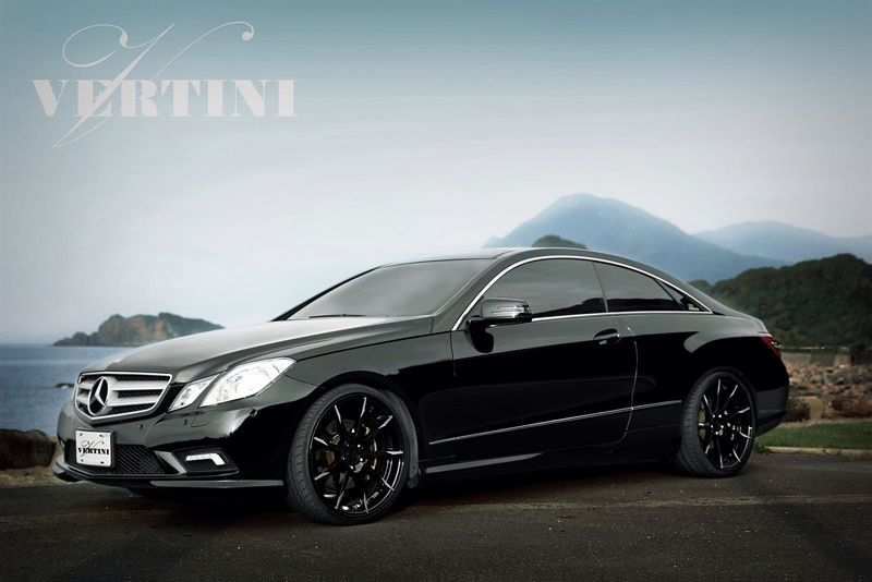 Mercedes Benz E Class E350 E550 Coupe Vertini Flying Black Concave